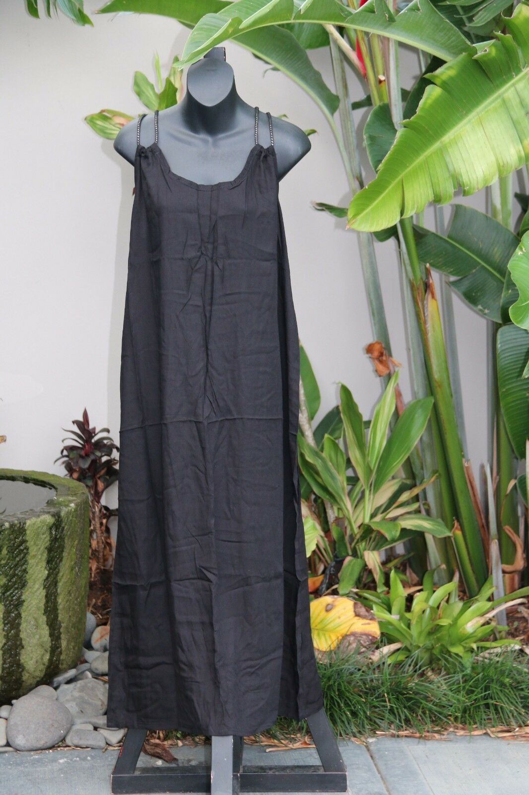 NEW Ladies Cotton Bali Maxi Dress / One Size / Cool Summer Casual Dress