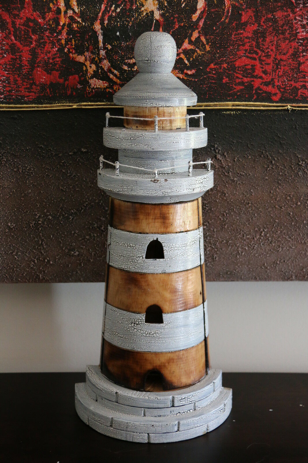 NEW Balinese Handmade Lighthouse Key Holder  -  Balinese Nautical Range