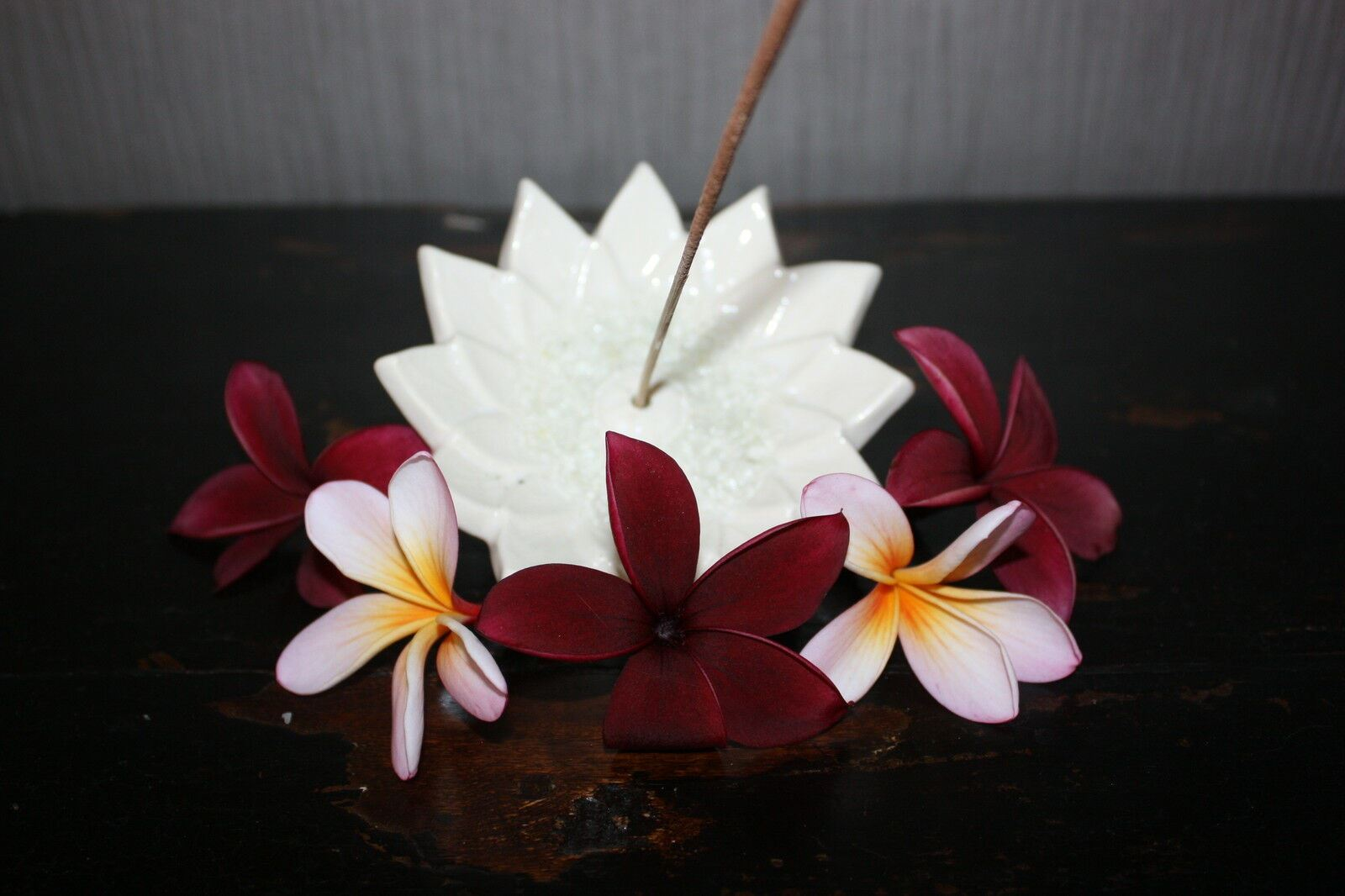 NEW Balinese Ceramic Lotus Incense Holder - Bali Incense Holder - MANY COLOURS