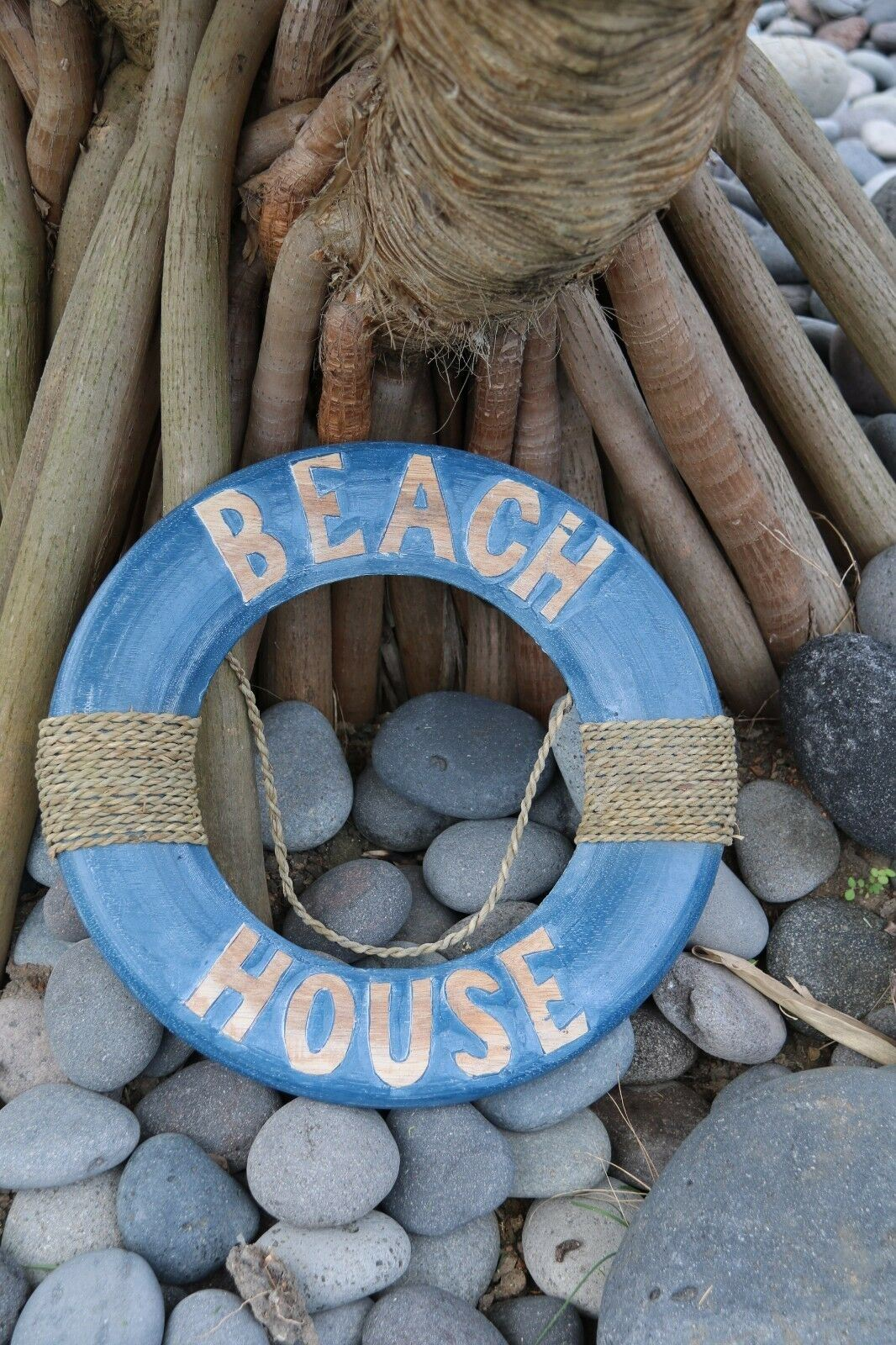 NEW Balinese Hand Crafted BEACH HOUSE Life Buoy Decor - 3 Colours Available
