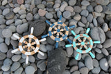 NEW Balinese Hand Crafted Ship Steering Wheel Decor SMALL - 3 Colours Available