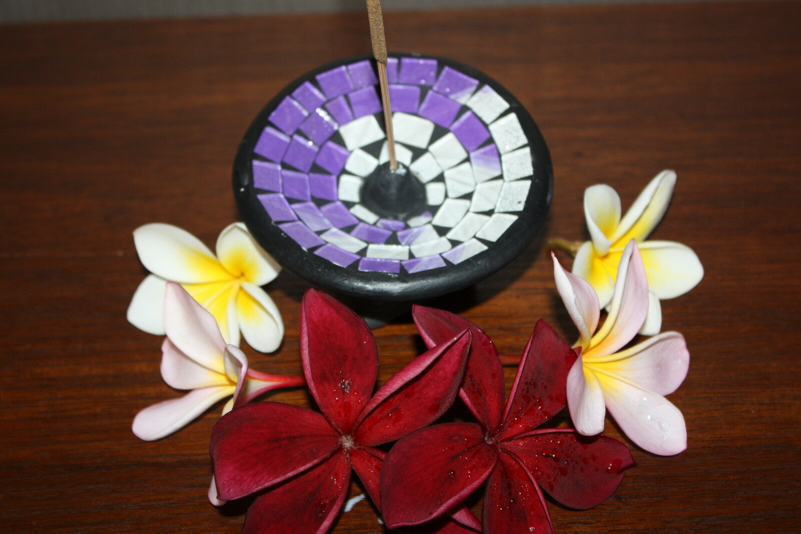 Brand New Bali Mosaic  Incense Plate Balinese Various Colours Available