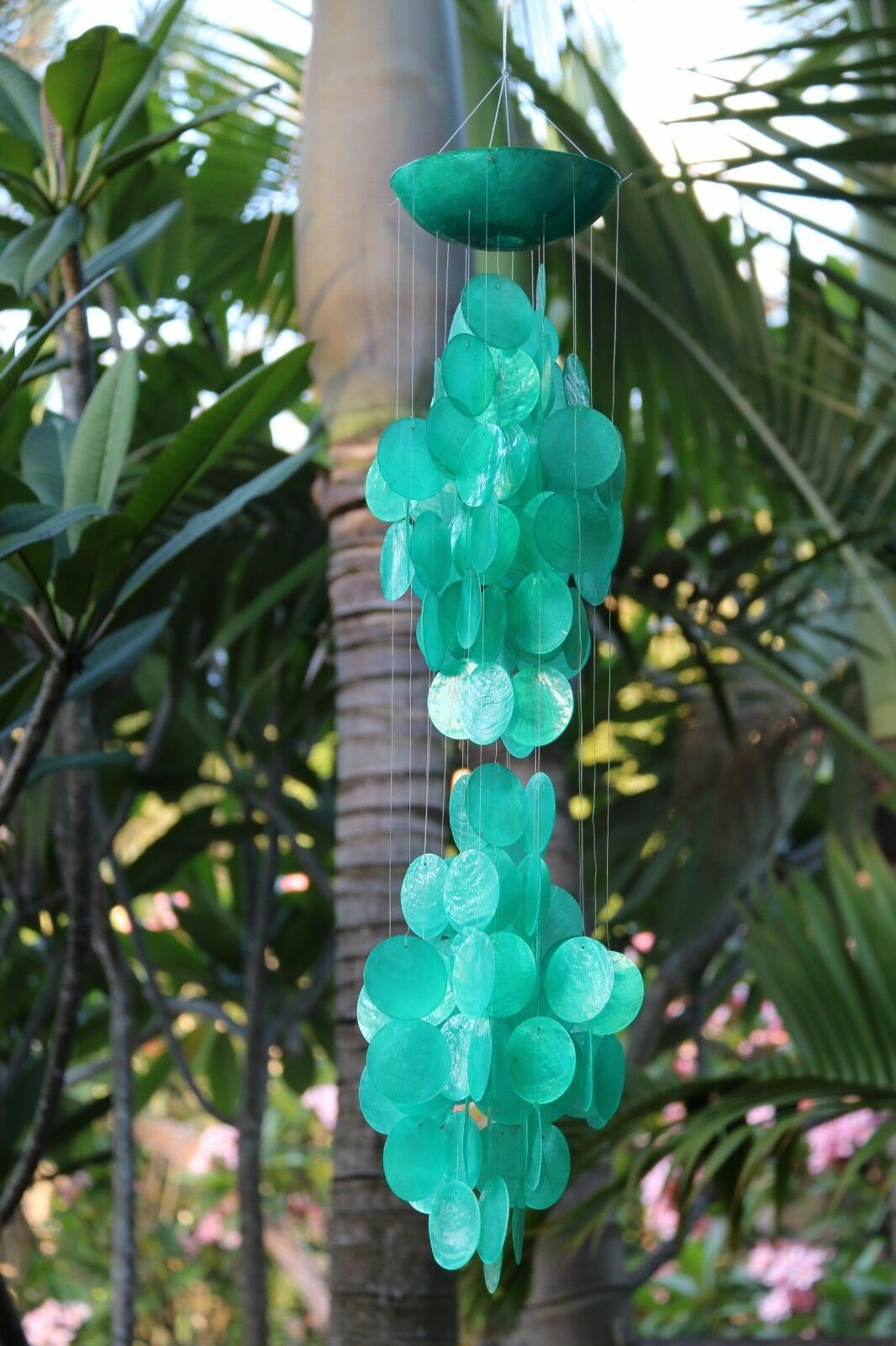 NEW Balinese Capiz Shell Mobile / Wind Chime - MANY COLOURS / Sound GREAT!!