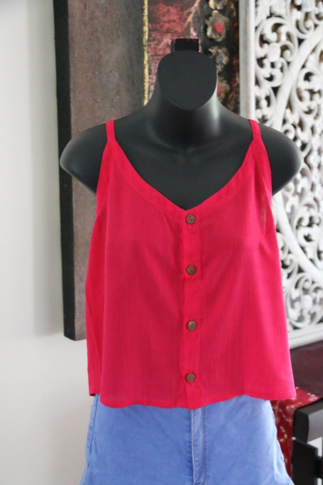 AWESOME Bali Summer Top - Lots of Colours - One Size Balinese Button Up Top