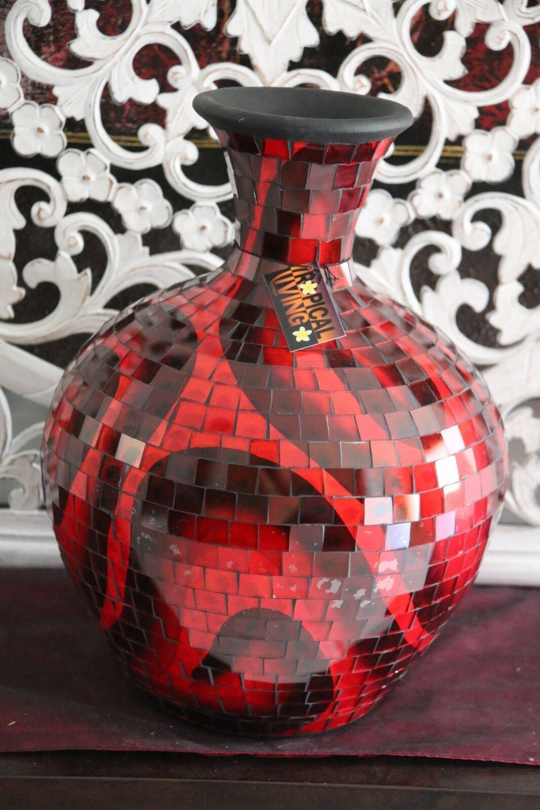 NEW Hand Crafted Balinese Mosaic Ball Vase MANY COLOURS - Bali Mosaic Home Decor