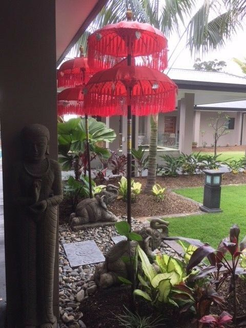 Balinese Double Ceremony Umbrella - Bali Umbrella - Balinese Garden Art