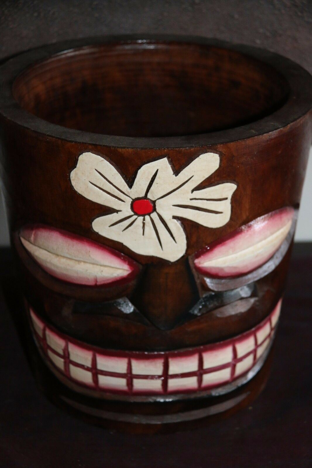 NEW Balinese Hand Crafted Tiki Bar / Polynesian Wooden Tiki Style Ice Bucket