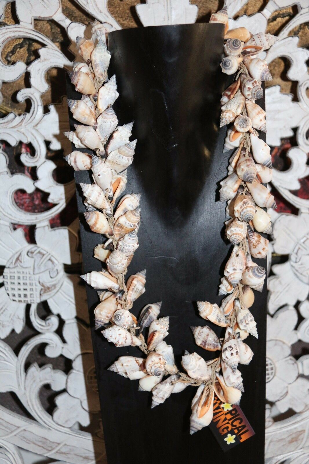 NEW Balinese Handmade Shell Garland GORGEOUS!!  BOHO Style... GREAT for Statues!