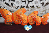 NEW Bali Hand Crafted Metal Set 3 Butterflies  - Balinese Butterfly Metal Art