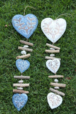 NEW Bali Wooden Heart / Pebble / Stick Mobile - Bali BOHO Style Hanging Art