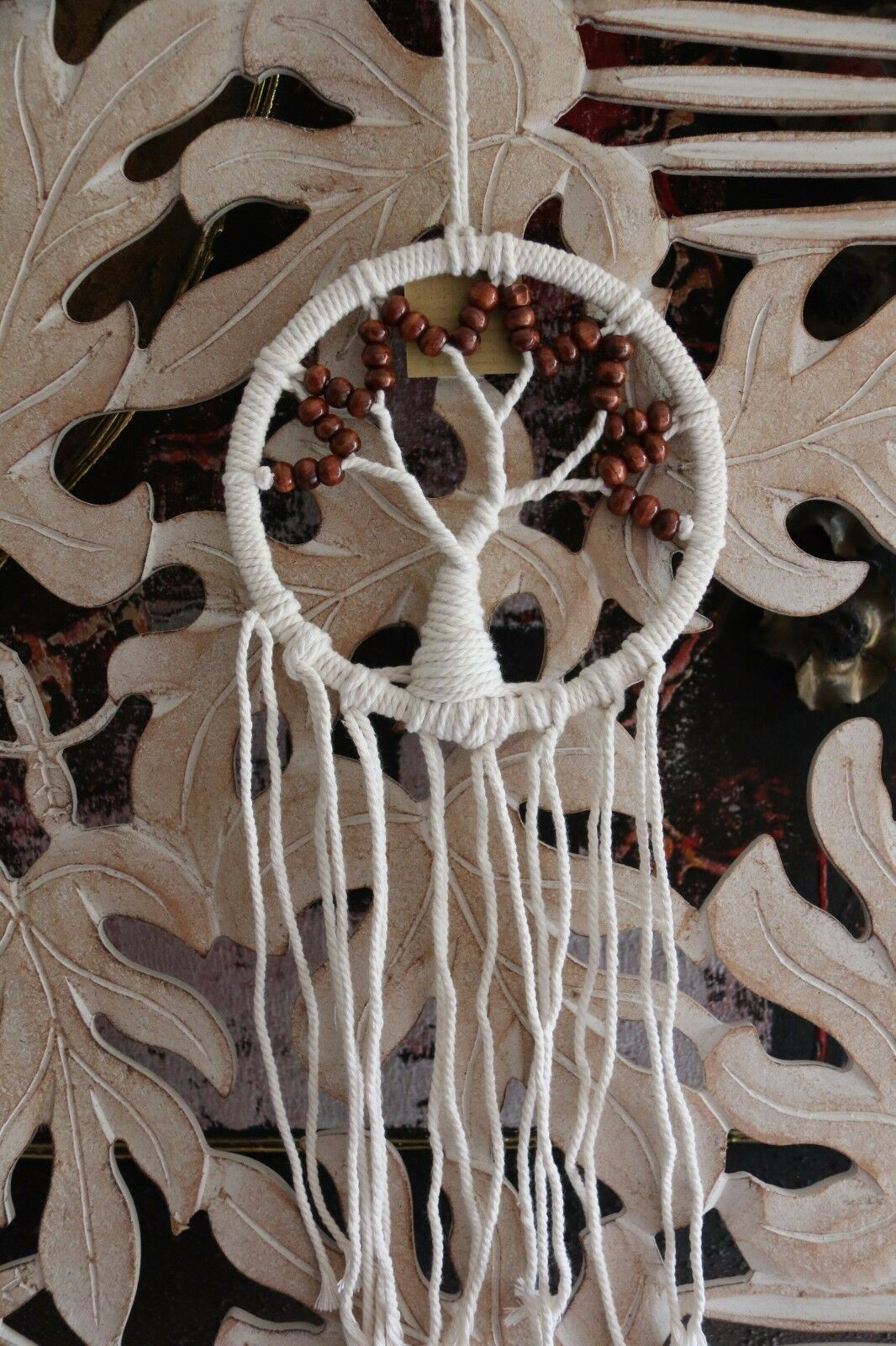 NEW Bali TREE OF LIFE Dream Catcher - MANY COLOURS - Hand Made with bead trim