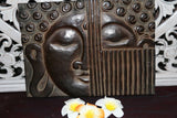 Balinese Hand Carved Buddha Wall Panel - Bali Buddha Face Panel