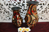 NEW Balinese Mosaic Decorative Vase - 2 Sizes!!  Bali Mosaic Vase Red/Brown