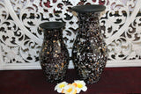 NEW Balinese Mosaic Decorative Vase - 2 Sizes!!  Bali Mosaic Vase Black Spec