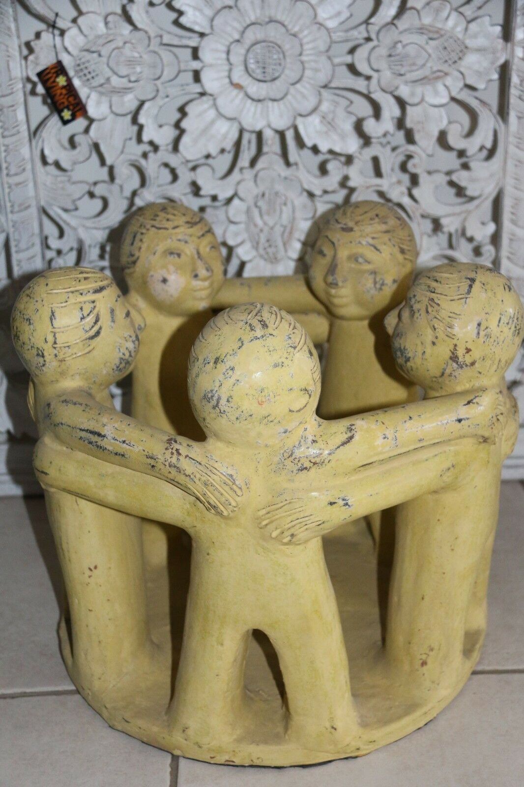 NEW Jumbo Size Circle of Friends Candle Holder - Bali Circle 5 Friends