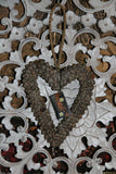 NEW Balinese Shell Heart Hanger - Bali BOHO Style Homewares