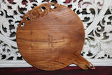 NEW Balinese Quality TEAK Wood Hand Carved Platter - Bali Carved Tappas Platter