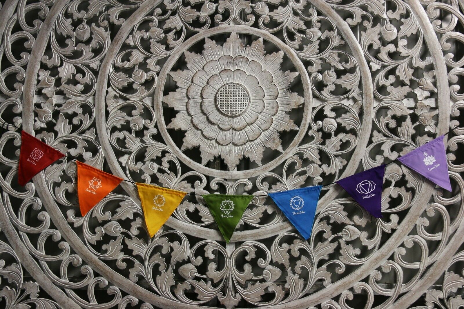 Small Balinese Chakra / Prayer Flags - Small Bali Prayer Bunting