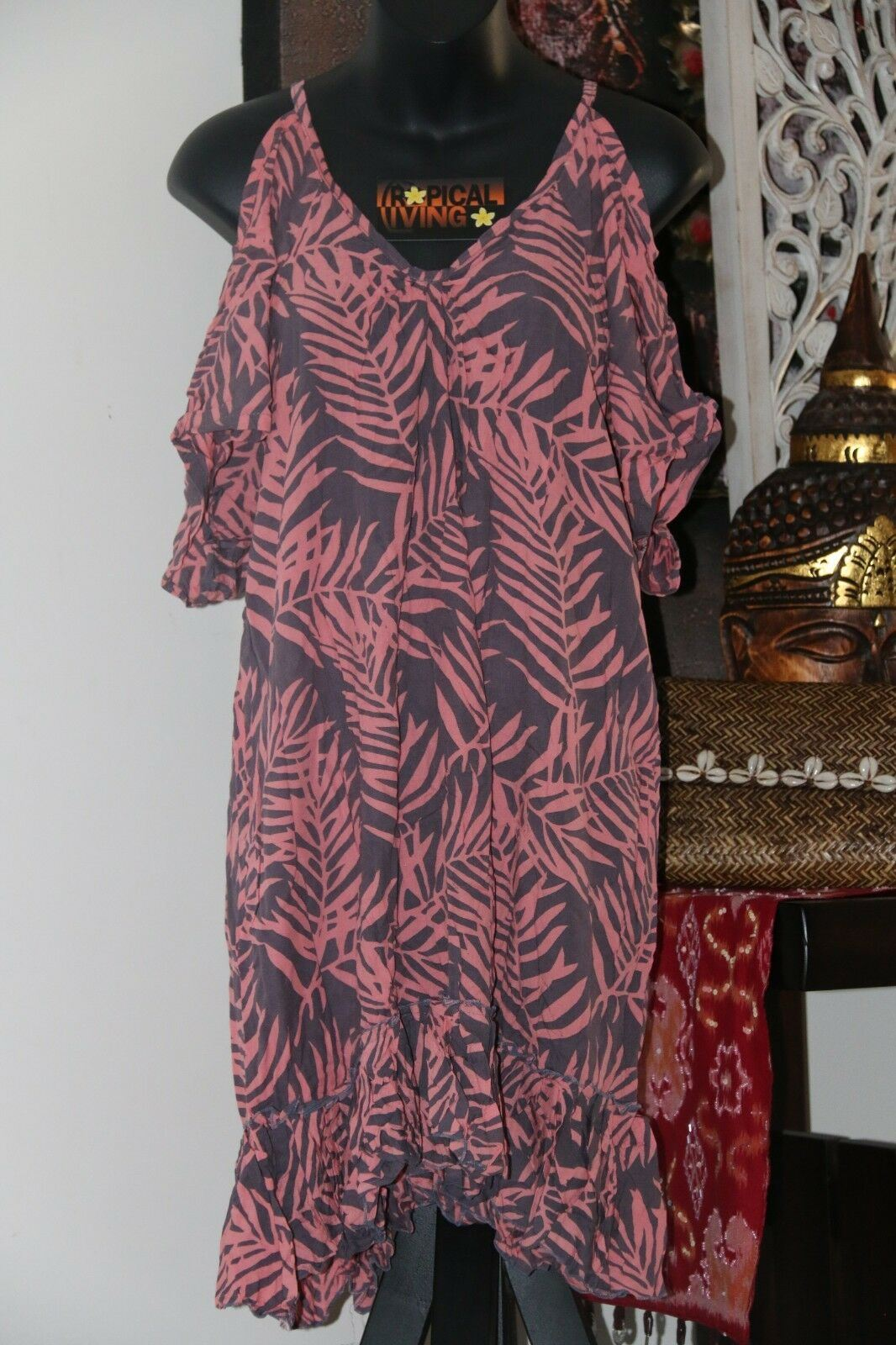 NEW Ladies Cotton Bali Knee Length Dress / Cool Summer Casual Dress / 8 Colours!
