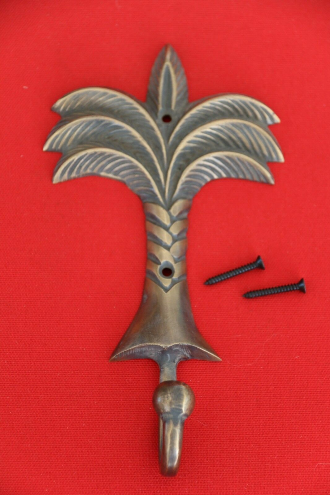 New BRASS Palm Tree Hook - Decorative Wall Hook - Furniture Accessories