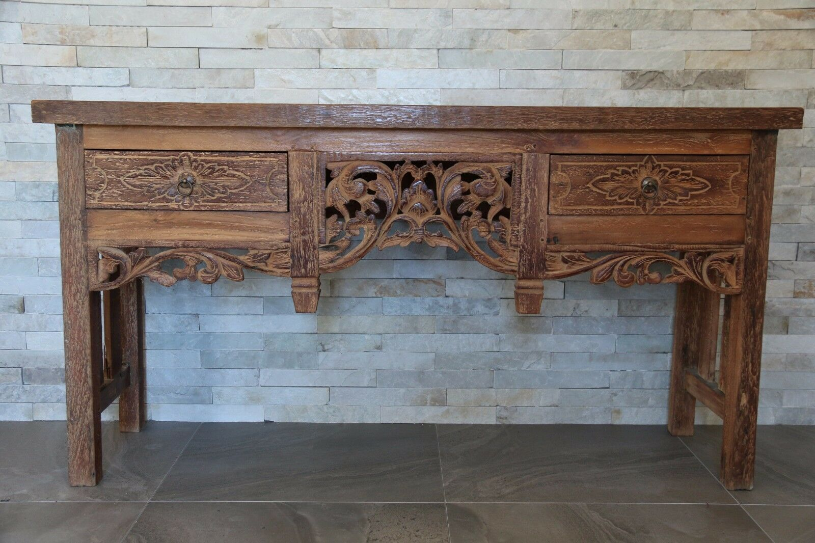 NEW Beautifully Hand Carved TEAK Wood Balinese Sideboard - Balinese Buffet