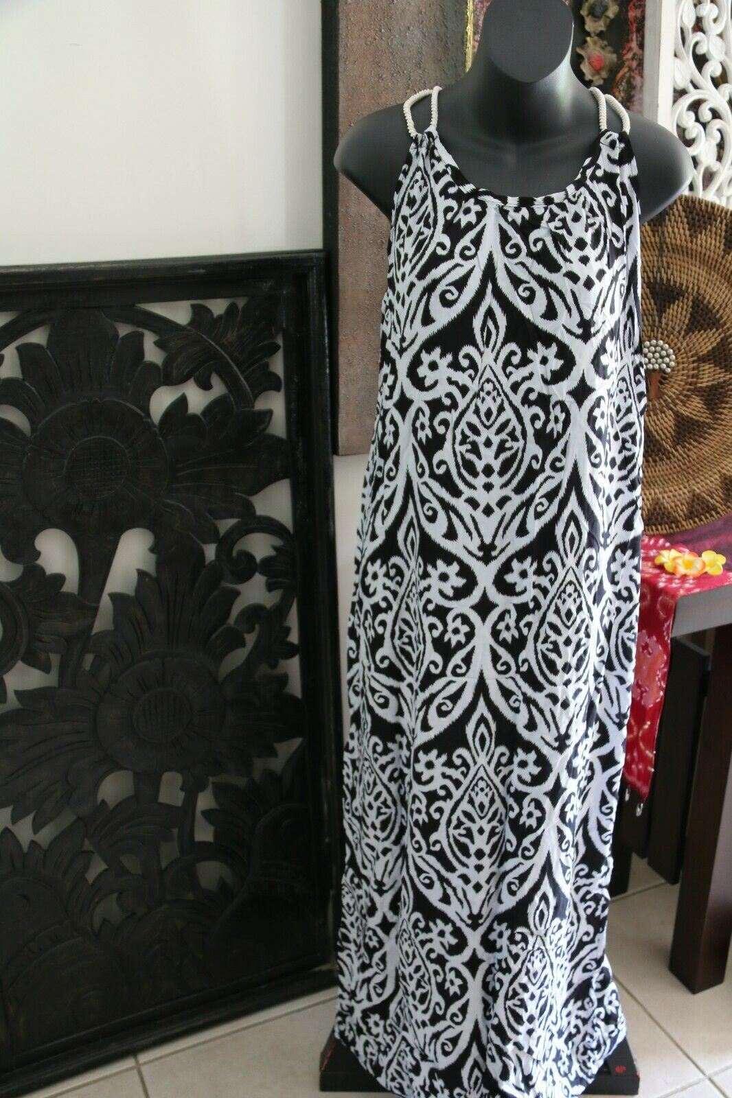 NEW Ladies Cotton Bali Maxi Dress / One Size / MANY COLOURS / Cool Summer Dress