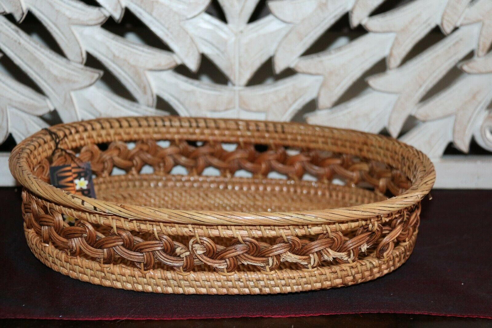 NEW Balinese Hand Woven Natural Rattan Open Baskets - 3 sizes available.