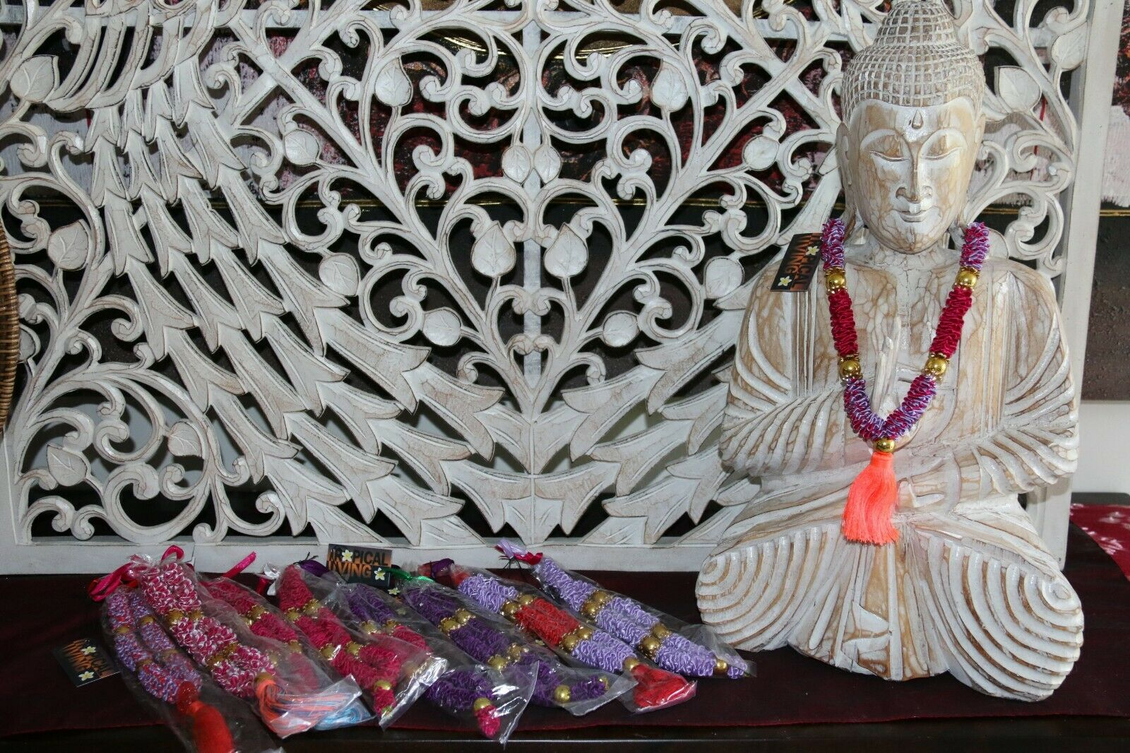 NEW Hand Made Balinese Mini Garland ( Hindu Jai Mala ) Suitable for Sculpures