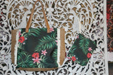 NEW Tropical Shoulder Bag + Purse / Make Up Bag set - Lovely Bright Colours