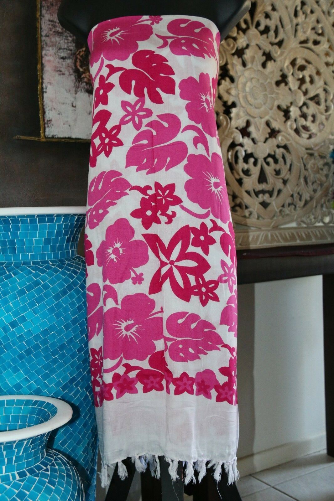 Bali Beach Sarong - Summer Beach Sarong - Bikini Cover Up - NEW 3 COLOURS AVAIL.