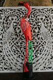 NEW Carved Wood Flamingo - Choose from 2 sizes - Beautiful bright colours.