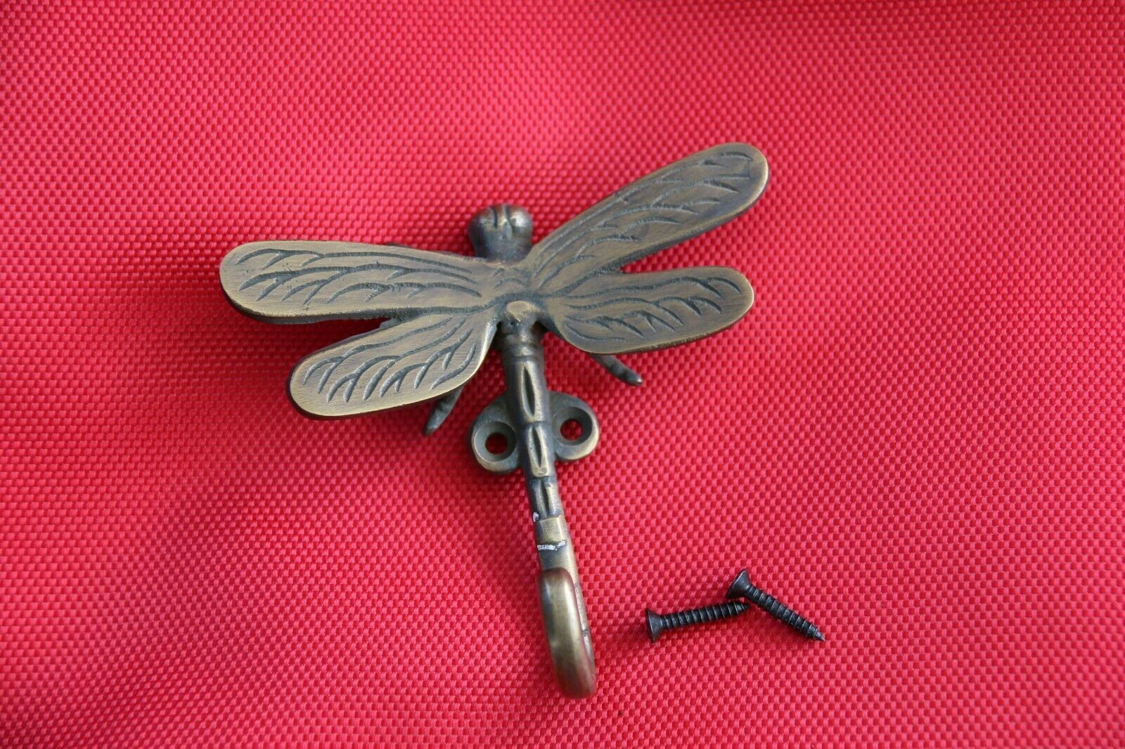 New BRASS Dragonfly Hook - Decorative Wall Hook - Furniture Fittings & Acces.