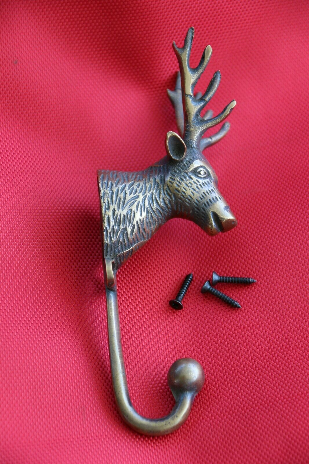 New BRASS Deer Hook - Decorative Wall Hook - Furniture Fittings & Acces.