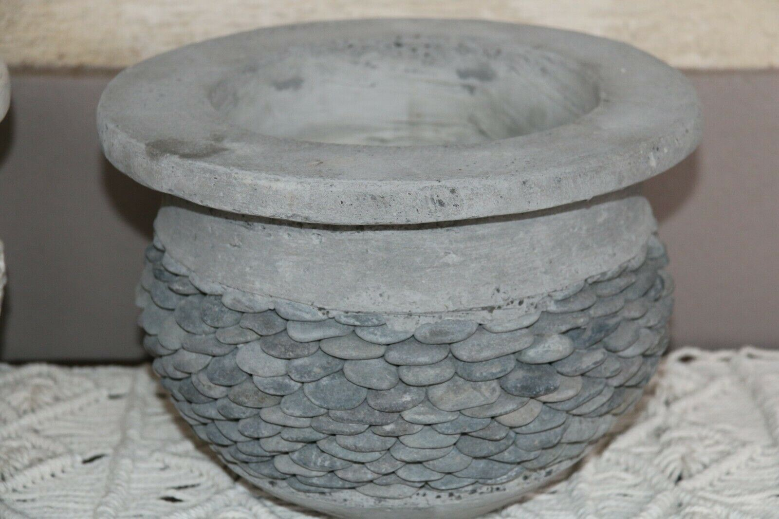 NEW Balinese Pebble  or Marble Chip Inlay Pots - Hand Crafted Bali Pots
