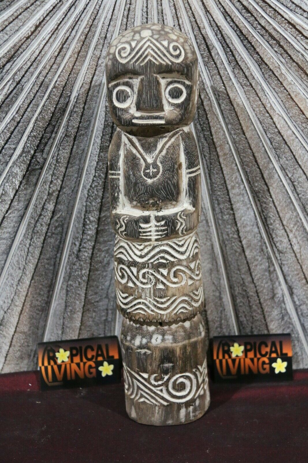 NEW Indonesian Hand Carved Primitive Wooden Statue / Sculpture - TIMOR ART