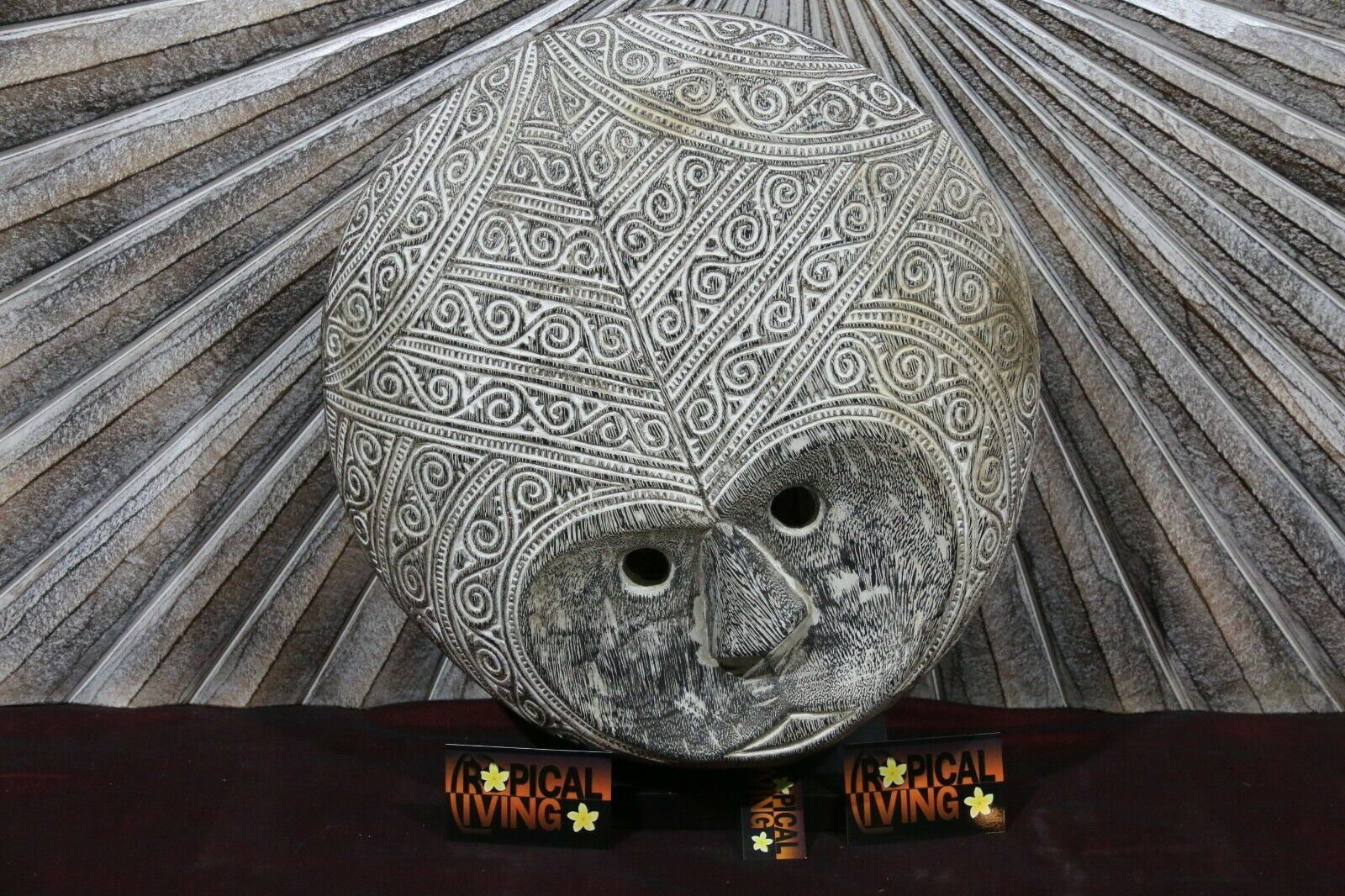 NEW Hand Carved TIMOR Tribal / Primitive Mask - Timor Art - Carved Wood Mask