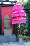 NEW Balinese Triple Ceremony Umbrella - Bali Umbrella - Balinese Garden Art