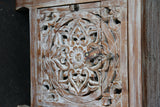 NEW Beautifully Hand Carved & Crafted TEAK WOOD Balinese Mandala Bedside Table