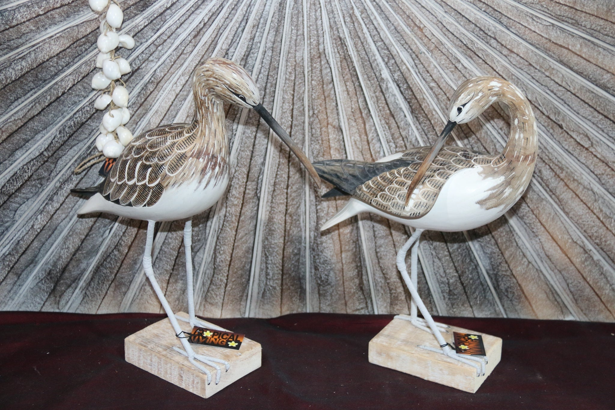 NEW Balinese Hand Carved & Crafted Wooden Curlew Sculpture