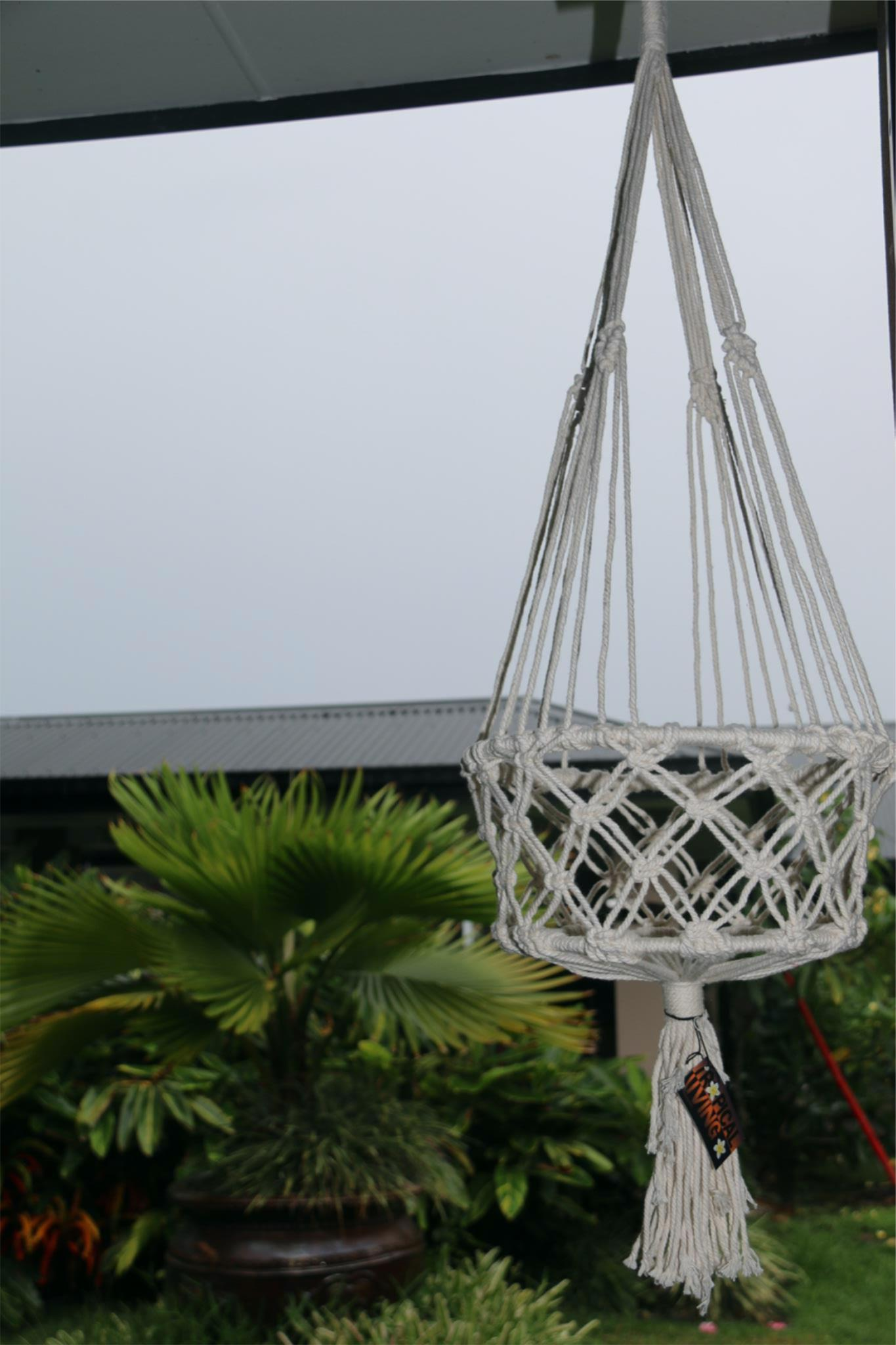 NEW Balinese Handmade Macrame Hanging Pot Holder L
