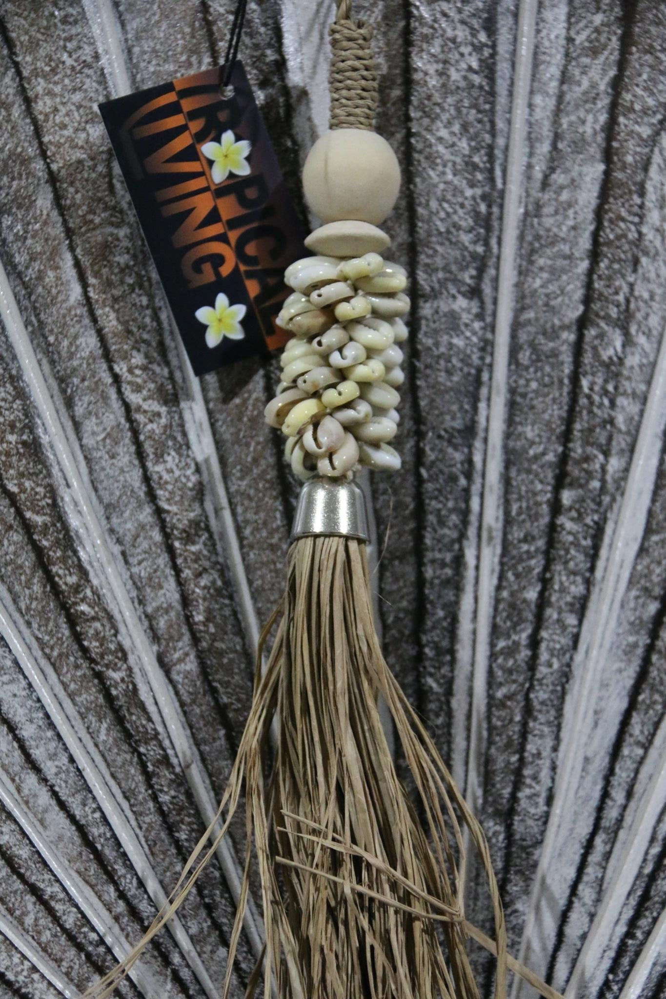 NEW BALINESE SHELL TASSEL - BALI SHELL HANGING DECOR - BOHO STYLE HOMEWARES