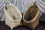 NEW BALINESE HAND WOVEN BAMBOO / RATTAN OPEN BASKET Medium