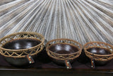 NEW BALINESE HAND CRAFTED WOOD/RATTAN COMBO BOWL Small