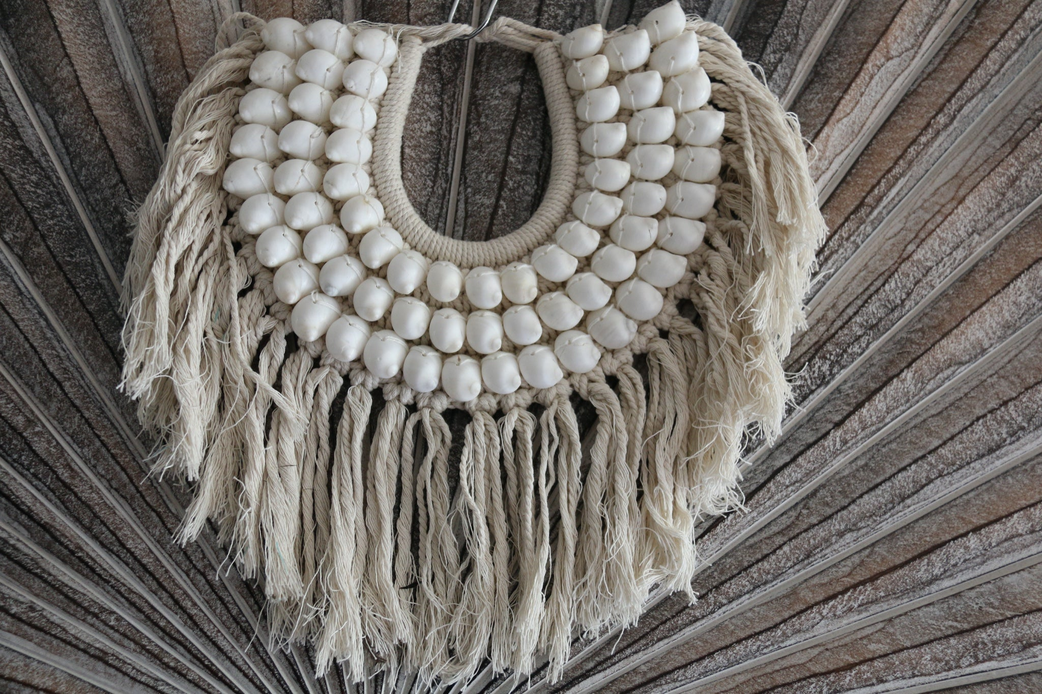 NEW Hand Crafted Balinese Shell Tribal Neck Piece - Primitive Shell Art - BOHO