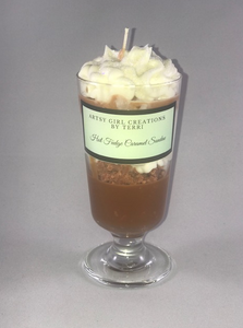 Hot Fudge Caramel Sundae Candle