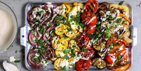 Campfire Recipe: Roasted Summer Vegetable Salad with Cheese