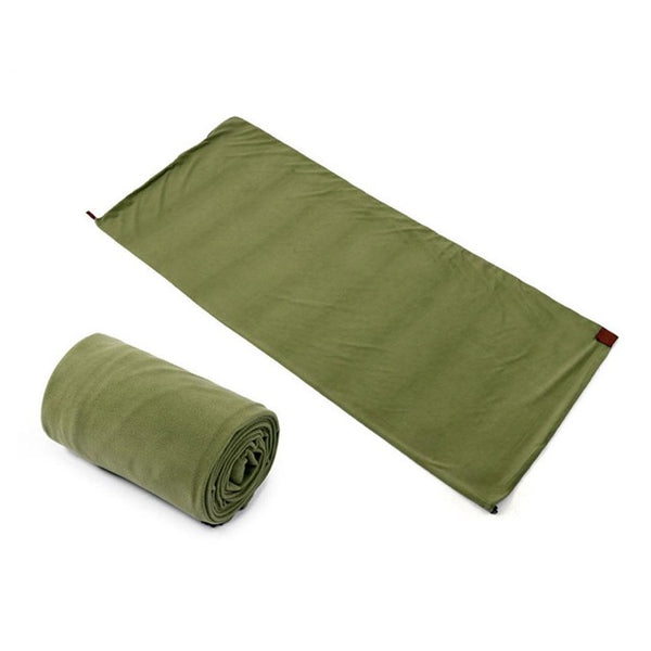 Fleece Portable and Lightweight Sleeping Bag | Outdoor Camping and Hiking Backpacking Equipment
