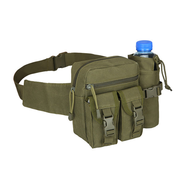 PROTECTOR PLUS Outdoor Military Camouflage Waist Bags with Bottle Holder | Detachable Belt Bag