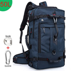 50L Durable, Waterproof, Multifunctional Travel Backpack | Multifunction Backpacks / Luggage Bag