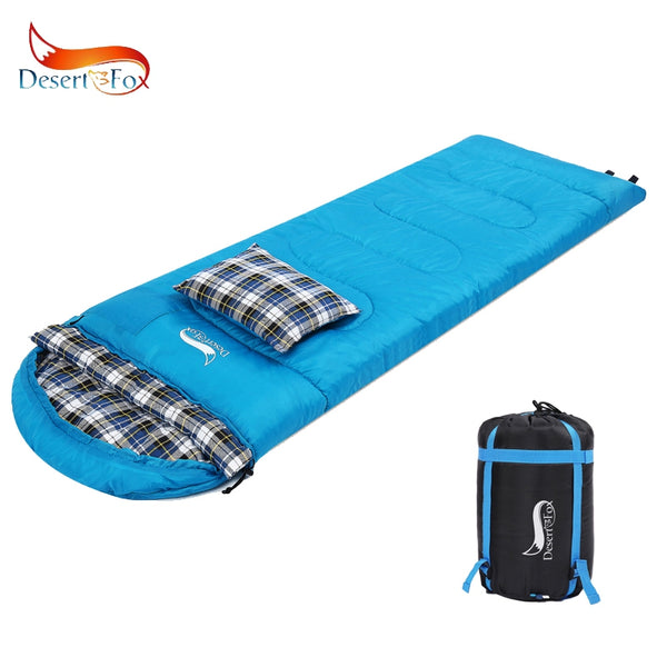 Desert & Fox Cotton Flannel Portable Sleeping Bags with Pillow